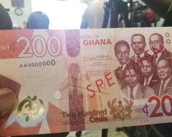 BoG Unveils GH¢100, GH¢200 Notes And GH¢2 Coin