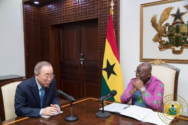 Ban Ki Moon and President Akufo-Addo
