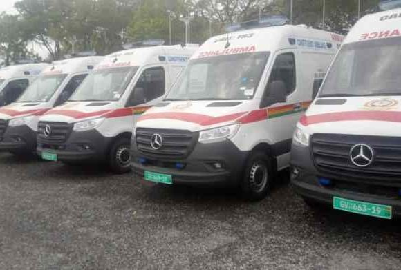 Fleet of ambulances