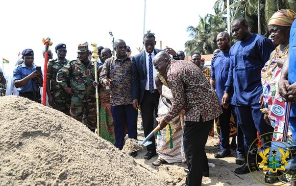 President Akufo-Addo Cuts Sod For 'Forward Operating Base' To Protect Oil & Gas Infrastructure