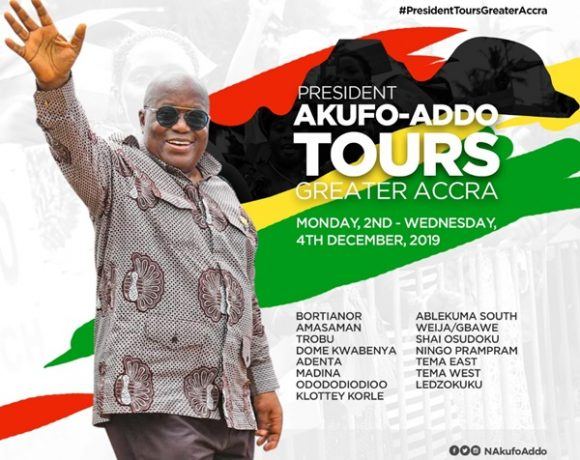 President Akufo-Addo Begins 3-Day Tour Of Greater Accra Region On Monday