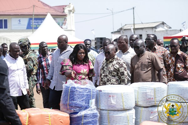 President Akufo-Addo Presents 6,336 Outboard Motors And Other Fishing Gear To Fisherfolk