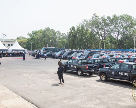 President Akufo-Addo Presents 100 More Vehicles To The Ghana Police Service