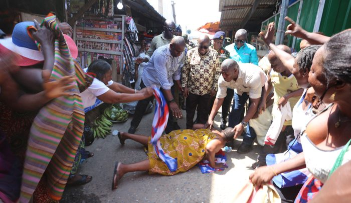 Ghanaian Traders Lauds Akufo-Addo In Accra Tour