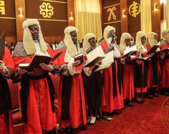President Akufo-Addo Swears In 45 High Court And Appeals Court Judges