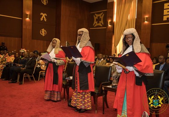 President Akufo-Addo Swears In 3 Supreme Court Justices