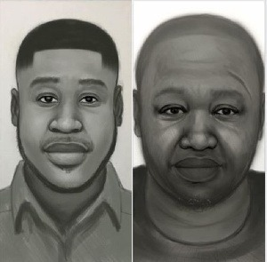 Artist impression of the two men who allegedly murdered Ahmed Suale