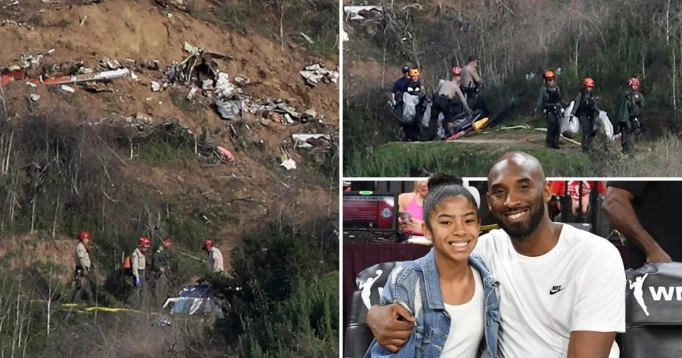 Nine people were killed when the helicopter they were in crashed into an LA hillside (Picture: Reuters; Getty)