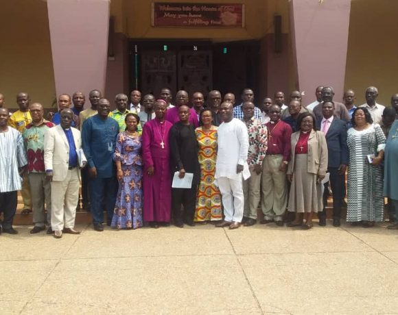 A group photograph of the clergy as well as MMDCES at the press conference ahead of Thursday's fund raiser for the building of the cathedral