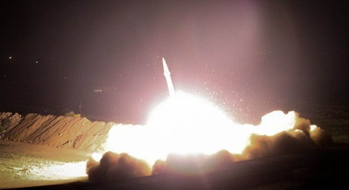 Iran launches missiles