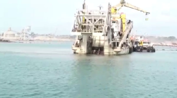 T'di Port Dredging Begins