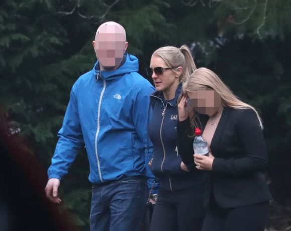 Prison officer Stephanie Smithwhite (center) arriving at Durham Crown Court (Image: PA)