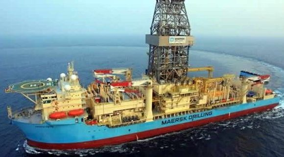 Maersk Viking: finishing up at Aker Energy's Pecan-4A well off GhanaPhoto: MAERSK DRILLING