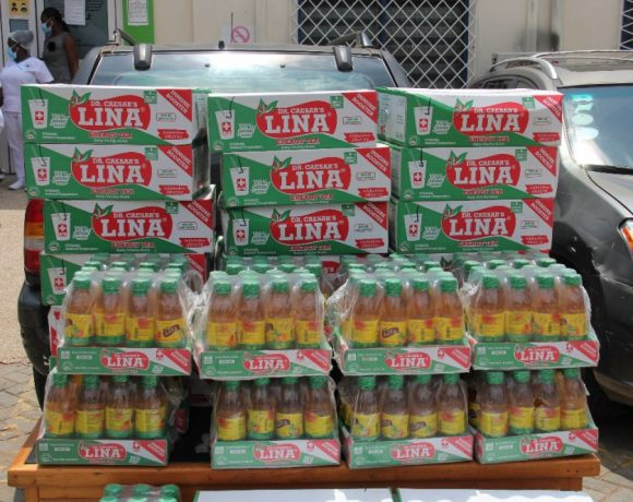 M.Y. Caesar Company Ltd, producers of Lina Energy Tea, has donated 50 packs of its products to Kotoka International Airport Company Ltd as part of its efforts to help boost the immune system of the staff