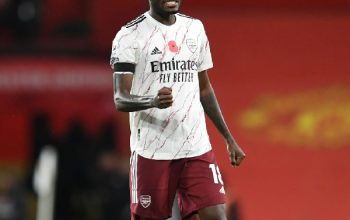 Thomas Partey put a splendid performance to help Arsenal beat Manchester United at Old Trafford for the first time in 14 years. The £45 million summer recruit was at his battling best in midfielder as the Gunners stole a 1-0 win on Sunday. Partey completed the most dribbles in the match with four; shot accuracy of 100%. According to statistics by FotMob, he was the most accurate passer (93%) to play 45 minutes or more from 55 accurate passes. And won the most duels (11) in the match. He had the second-best rating of the match with 7.8 behind Man of the Match 7.9. Pierre-Emerick Aubameyang scored the only goal of the game from the penalty spot. Manchester United midfielder Paul Pogba kicked Hector Bellerin's foot in the penalty area for the penalty. Aubameyang sent goalkeeper David De Gea the wrong way with his 69th-minute spot-kick to give Arsenal the lead.