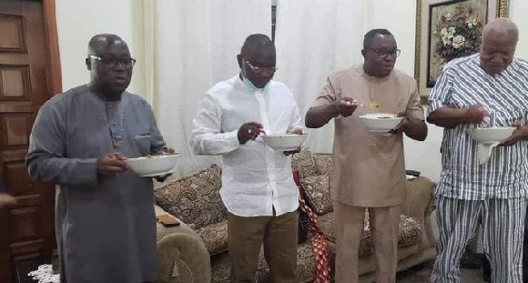 NDC big men enjoy 'aponkye light soup' after auditing their pink sheets