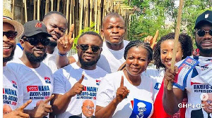 KALYBOS, PRINCE DAVID OSEI, OTHER CELEBRITIES STORMS AYAWASO WEST TO CAMPAIGN AGAINST JOHN DUMELO