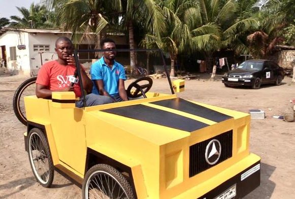 JHS LEAVER MAKES A PADDLE CAR OUT OF WOOD