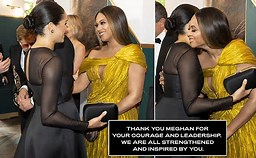 BEYONCE' THANKS MEGHAN FOR COURAGE AND LEADERSHIP