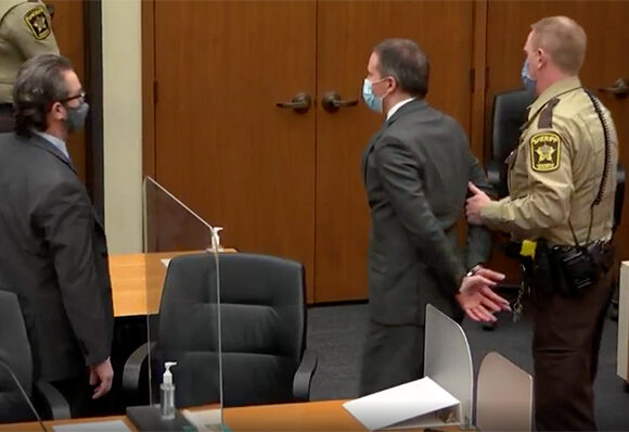 After less than a day of deliberation, jurors found Derek Chauvin guilty of all charges over George Floyd's death. The jury returned guilty verdicts of second-degree murder, third-degree murder and manslaughter The former police officer was filmed kneeling on Floyd for over nine minutes during his arrest last May The video footage led to protests in the US and around the world over police use of force against minorities It is rare that US police are convicted of murder and this high-profile trial has been seen as a watershed in race relations Chauvin's defense argued that drugs and poor health caused Floyd's death But the prosecution urged the jury to believe what they saw in the video. Source: BBC